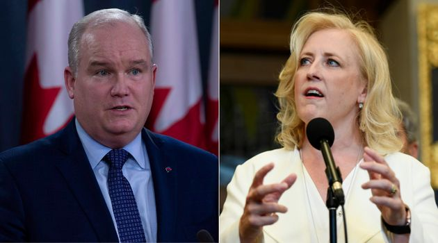 Conservative MPs Erin O'Toole and Lisa Raitt are shown in a composite