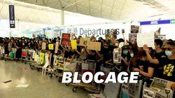 À l'aéroport d'Hong Kong, les images des barricades de