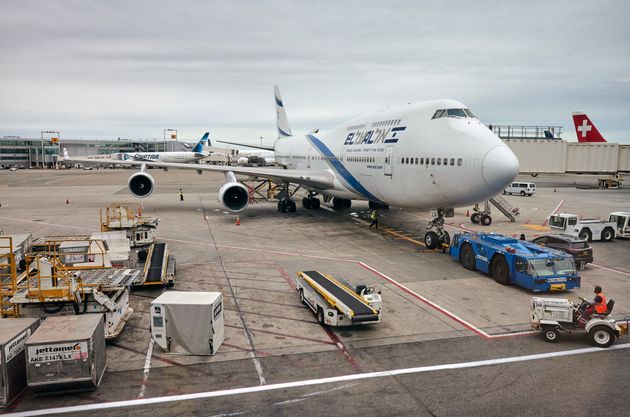 Un avión de El Al, en el aeropuerto de Nueva York, en una imagen de