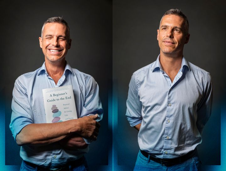 "Author BJ Miller during and after a taping of HuffPost show ""Between You and Me"" with host Caroline Modarressy-Tehrani in New York City on July 17, 2019."