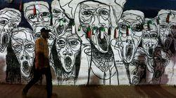 Laissez nos graffitis sur les murs, clament les protestataires au
