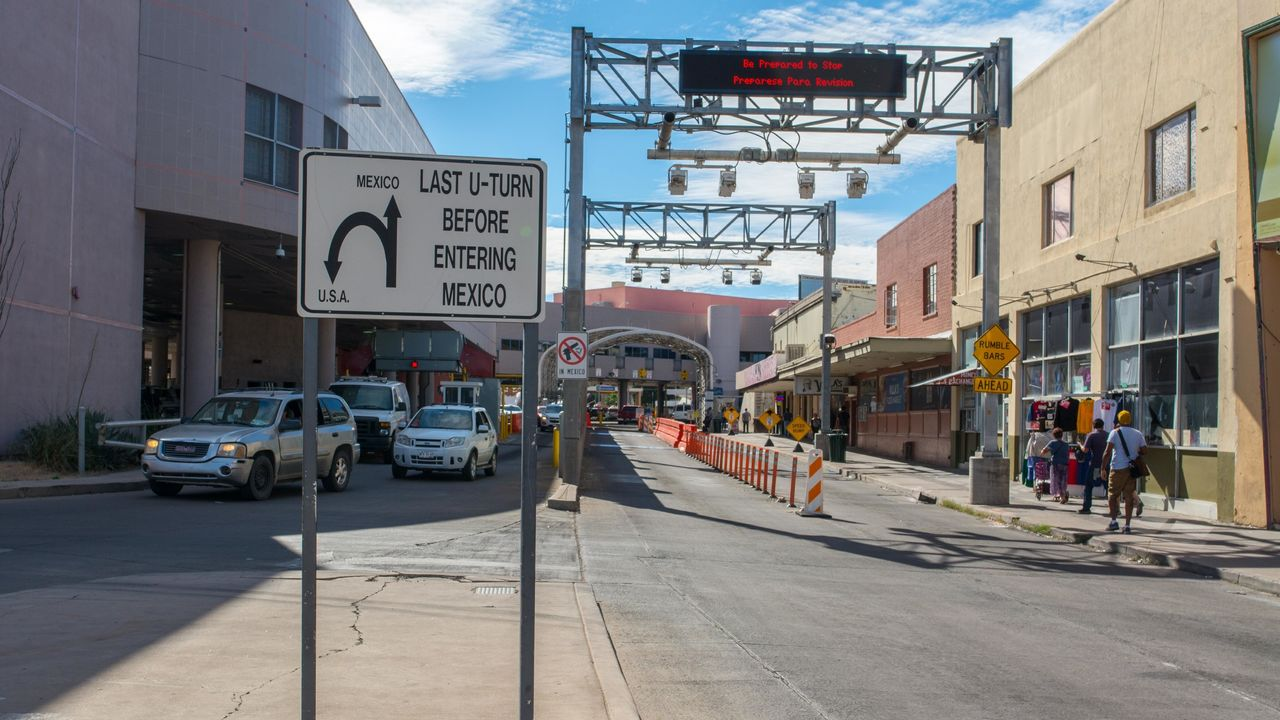 The border crossing station in Nogales, Arizona.