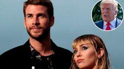 Un tuit de Trump a Miley Cyrus en 2013 se vuelve viral tras divorciarse de Liam