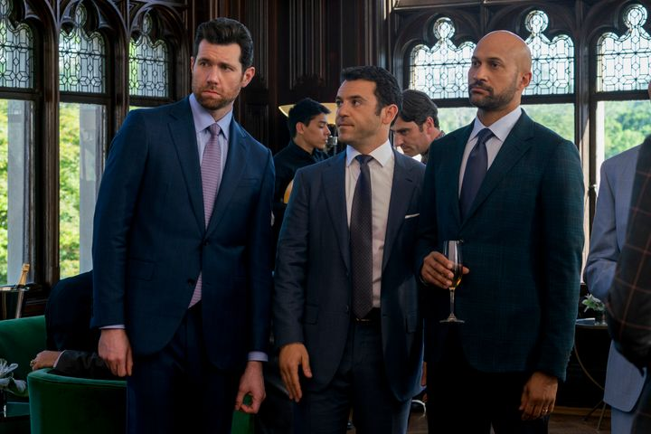 Billy Eichner, Fred Savage and Keegan-Michael Key in