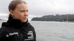 De Londres a Nova York: Greta Thunberg dá início a uma aventura 'sustentável' em alto
