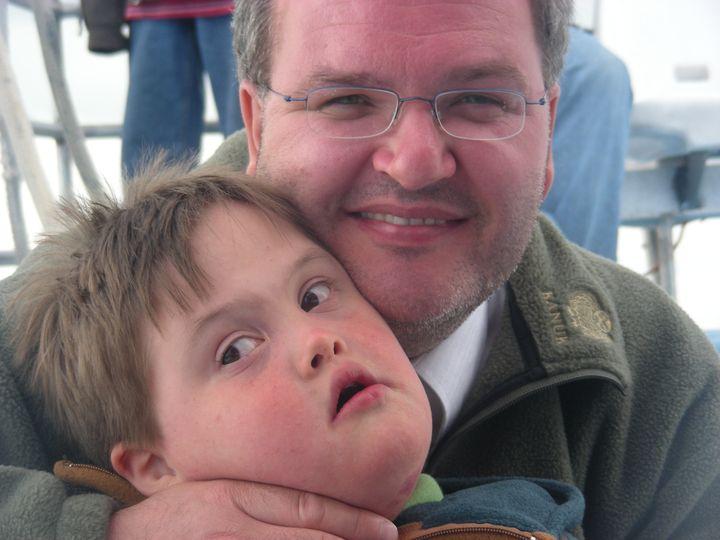 Sylvain Fortin et son fils Mathieu, qui vit avec la trisomie 21
