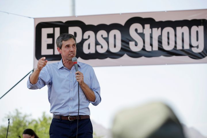 Former House Rep. Beto O'Rourke (D-Texas) speaks at an event.