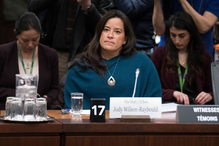 Former Canadian Justice Minister Jody Wilson-Raybould at her testimony about the SNC-Lavalin affair in Ottawa on February 27, 2019.