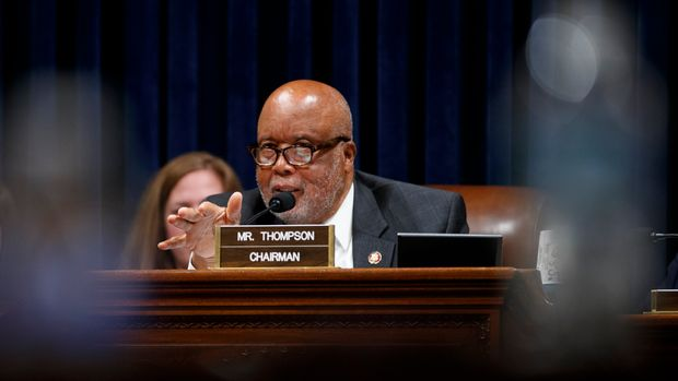 House Homeland Security Committee chairman Bennie Thompson, D- Miss., speaks during testimony by Acting Secretary of Homeland Security Kevin McAleenan on Capitol Hill in Washington, Wednesday, May 22, 2019, during the House Homeland Security Committee on budget. (AP Photo/Carolyn Kaster)
