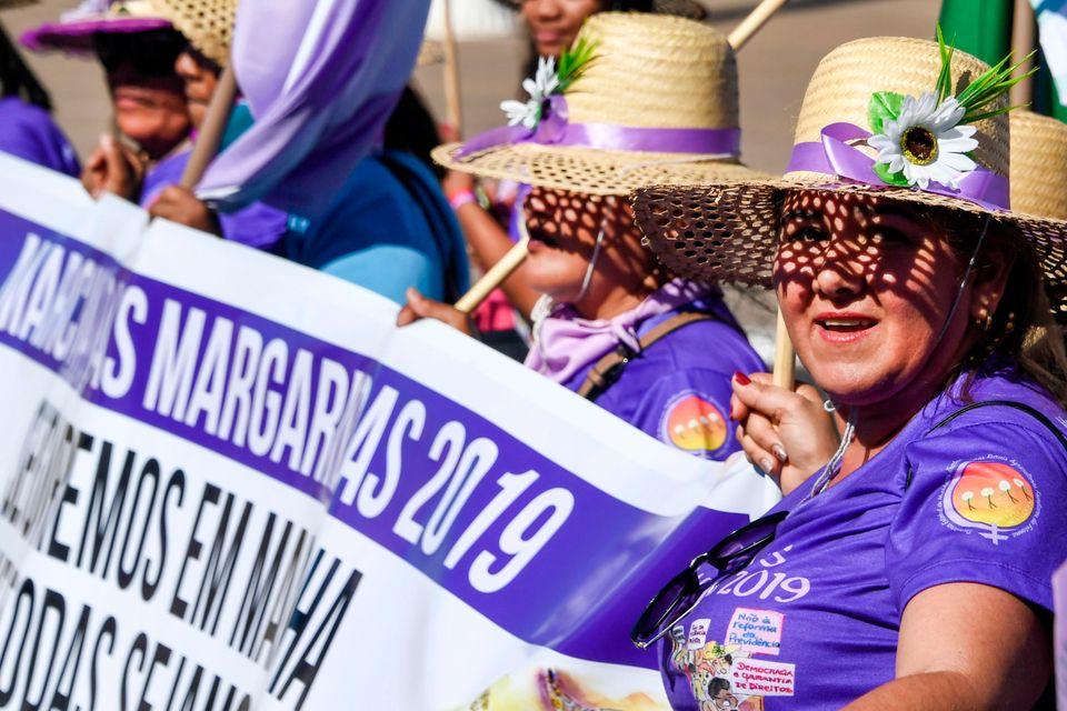 Manifestação marca o encerramento da 1ª Marcha das Mulheres Indígenas e o encontro...