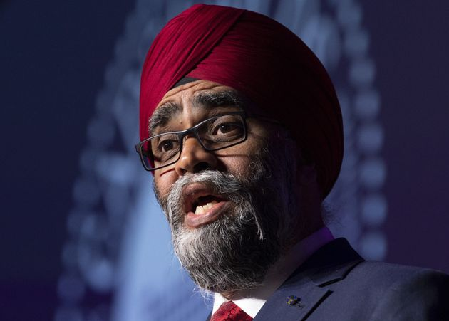 Defence Minister Harjit Sajjan speaks at Canada's global defence & security trade show in Ottawa,...