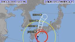【台風10号】昼すぎに四国に上陸し記録的大雨の恐れ 気象庁、早めの避難呼びかけ