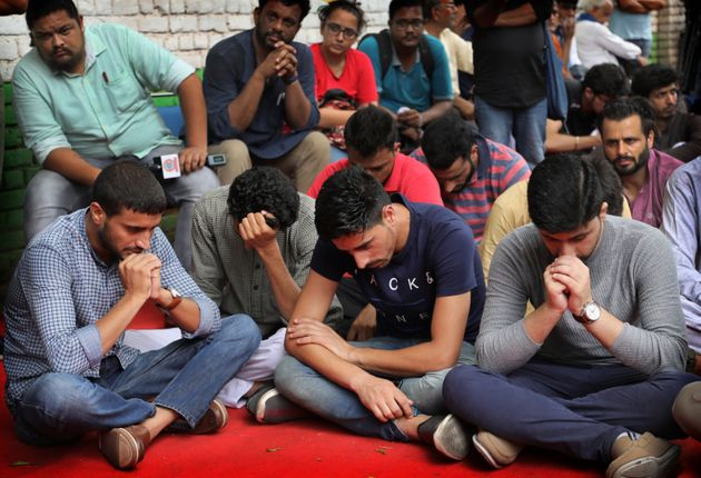 Kashmiris living in New Delhi gather for a function to observe Eid al-Adha away from their