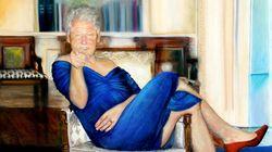 Ritratto di signore. Jeffrey Epstein aveva un dipinto di Bill Clinton vestito da donna nella sua casa di