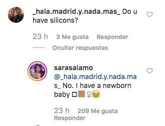 El corte de Sara Sálamo a un usuario que le preguntaba si