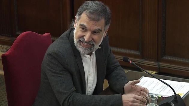 Jordi Cuixart, durante el juicio al 'procés' en el