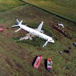 Graban el espectacular aterrizaje de emergencia de un Airbus en un