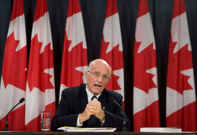 Retired Supreme Court justice Frank Iacobucci speaks in Ottawa on Oct. 21,
