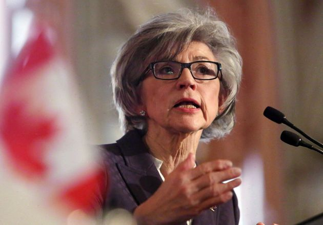 Beverley McLachlin, former chief justice of the Supreme Court, delivers a speech in Ottawa on Feb....