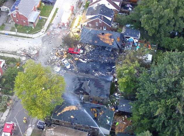 London police released this photo following a house explosion that took place Wednesday evening in an...