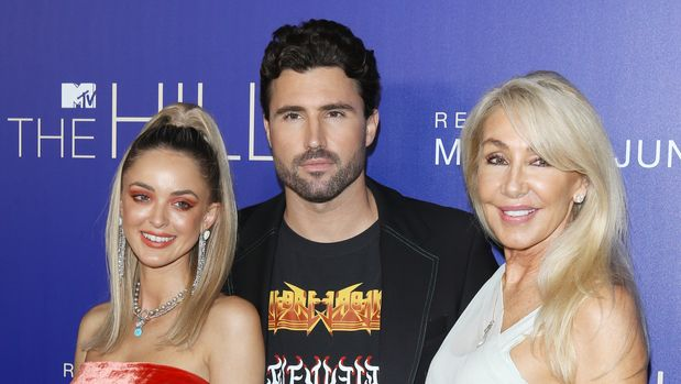 "LOS ANGELES, CALIFORNIA - JUNE 19: Kaitlynn Carter Jenner, Brody Jenner and Linda Thompson attend the Los Angeles premiere of MTV's ""The Hills: New Beginnings"" held at Liaison on June 19, 2019 in Los Angeles, California. (Photo by Michael Tran/FilmMagic)"