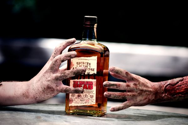 "Whiskey kills brain cells, which makes it the perfect drink for zombies. This <a href=""https://www.reservebar.com/products/th"