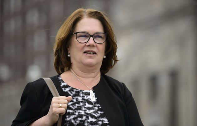 Jane Philpott leaves Parliament Hill in Ottawa on April 2,