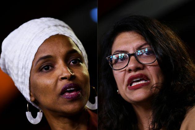 Ilhan Omar, à gauche et Rashida Tlaib à