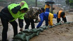 태풍 크로사 영향 253㎜ 폭우로 속초 청호동 침수 강릉 1명