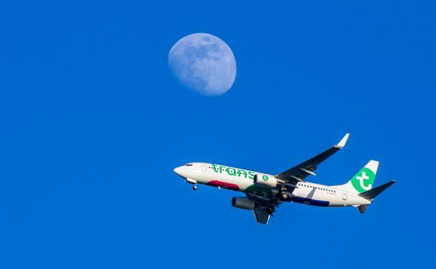 Un avión de Transavia, en una imagen de