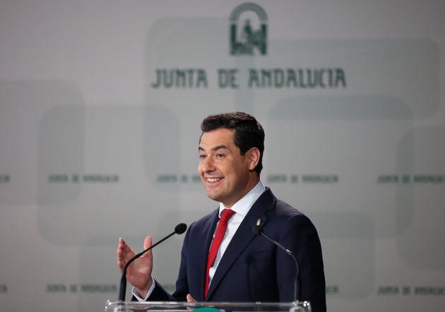 El presidente andaluz, Juanma Moreno, en un acto en la Universidad de Cádiz, el pasado 11 de