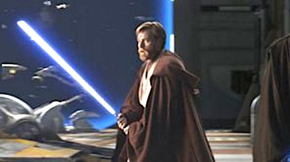 "Ewan McGregor as Obi-Wan Kenobi in ""Revenge of the Sith."""