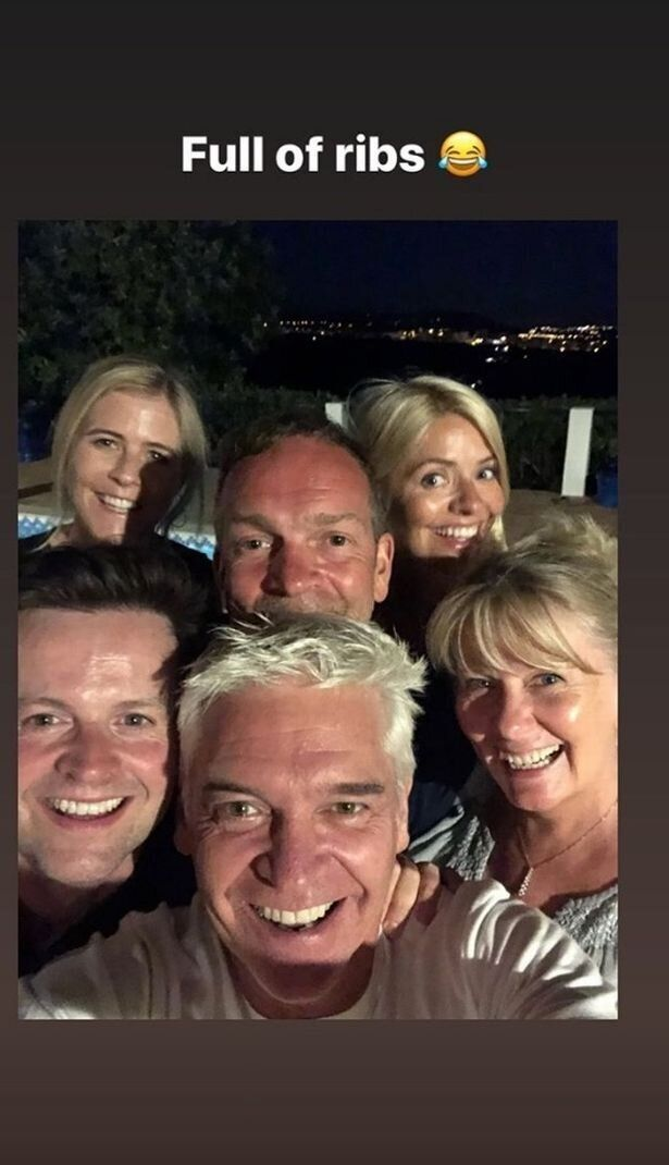 Phillip Schofield posted this picture of the gang's holiday on Instagram