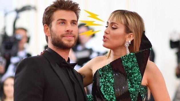 Los tres recaditos de Miley Cyrus a Liam Hemsworth en su última