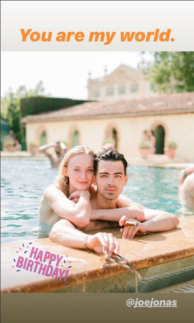 Joe Jonas Gets Cake And Concert Kiss From Sophie Turner For 30th