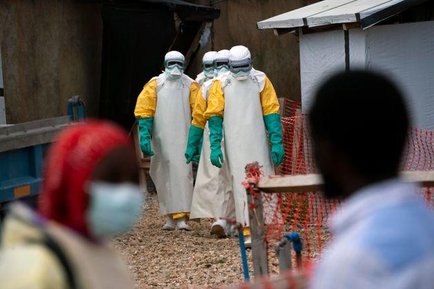 Un centre de soin pour les malades d'Ebola à Beni en République démocratique du...