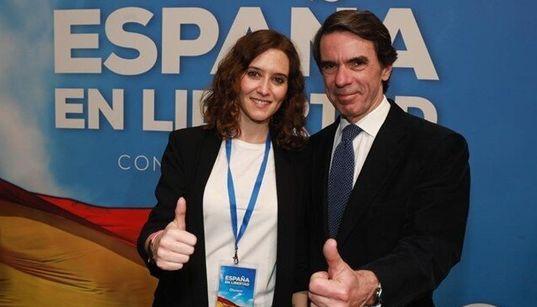 Aznar bendice a Díaz Ayuso y carga contra la izquierda y