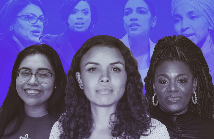 Jessica Cisneros, Morgan Harper and Cori Bush say they feel even more motivated to run for office after President Donald Trump's attacks on the Squad.