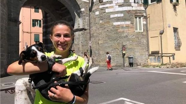 Martina Pastorino walked across Italy with her dog, Kira, to bring attention to violence against women.