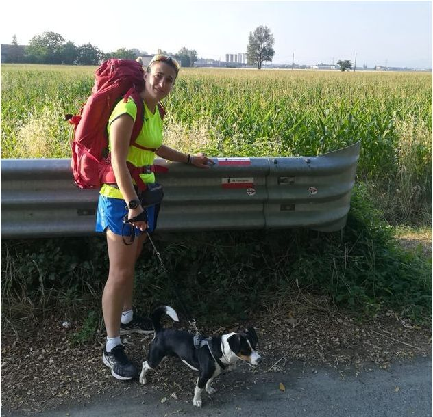 Pastorino and Kira traveled 422 miles on foot along the Via Francigena, the route once trod by medieval pilgrims.