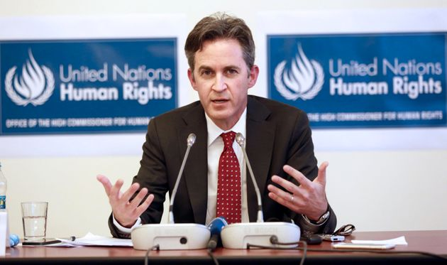 David Kaye, the U.N. Special Rapporteur on Freedom of Opinion and Expression, at a press conference in