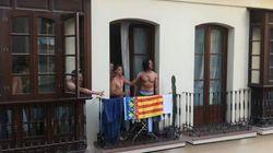 """″¡Viva España, cabrones!"""": a ladrillazos por una senyera valenciana que confundieron con la"""