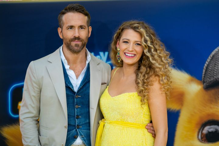 """Ryan Reynolds and Blake Lively at the premiere of """"Pokémon Detective Pikachu."""""""