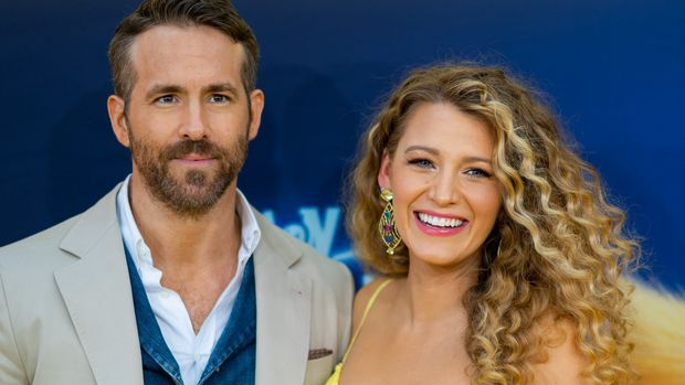 NEW YORK, NEW YORK - MAY 02: Blake Lively and Ryan Reynolds attend the 'Pokemon Detective Pikachu' U.S. Premiere at Times Square on May 02, 2019 in New York City. (Photo by Michael Stewart/FilmMagic)