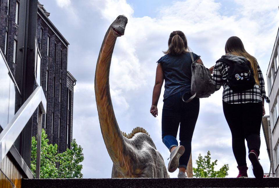 Είναι 12 Αυγούστου και ένας Διπλόδοκος δεινόσαυρος, παρακολουθεί τους ανθρώπους να βγαίνουν από τον σταθμό του μετρό, στην πόλη του Μπόχουμ στην Γερμανία. Το προϊστορικό πλάσμα αποτελεί μέρος 33 δεινοσαύρων που βρίσκονται τοποθετημένα στο κέντρο του Μπόχουμ, εκεί όπου μία πίστα δεινοσαύρων, ηλικίας 316 εκατομμυρίων ετών, ανακαλύφθηκε, πριν από έξη χρόνια.