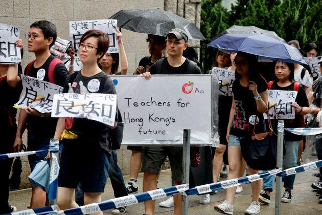 A Hong Kong la marcia dei