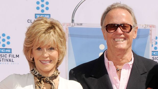 HOLLYWOOD, CA - APRIL 27:  Actors Jane Fonda and Peter Fonda pose at Jane Fonda's hand and footprints ceremony at TCL Chinese Theatre on April 27, 2013 in Hollywood, California.  (Photo by Gregg DeGuire/WireImage)