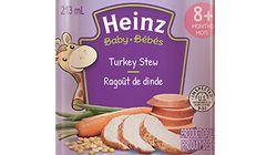 Rappel de pots de nourriture pour bébé par Heinz
