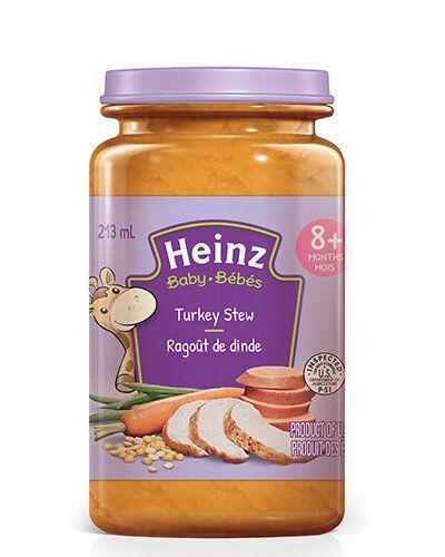 Rappel de pots de nourriture pour bébé par Heinz Canada