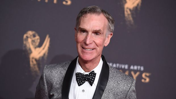 Bill Nye arrives at night one of the Creative Arts Emmy Awards at the Microsoft Theater on Saturday, Sept. 9, 2017, in Los Angeles. (Photo by Richard Shotwell/Invision/AP)